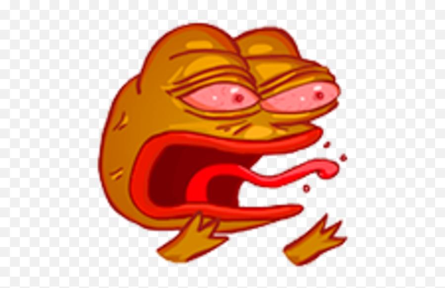 Meme Emoji - Pepe Rage
