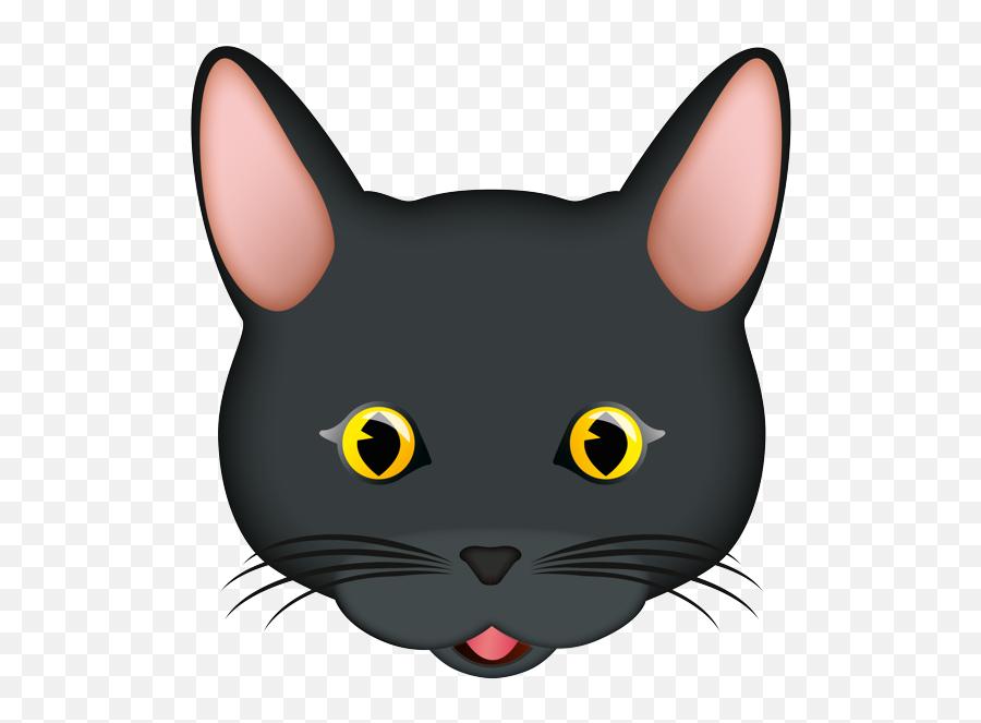 Emoji - Black Cat,Black Cat Emoji