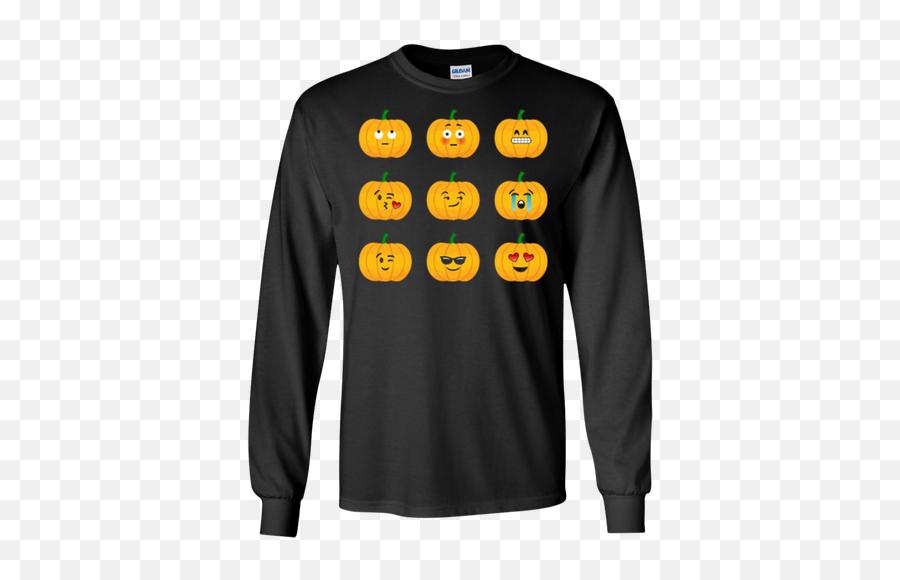 Pumpkin Emoji Faces Tshirt For Halloween - Harry Potter Long Sleeve T Shirts Men,Emoji Pumpkin