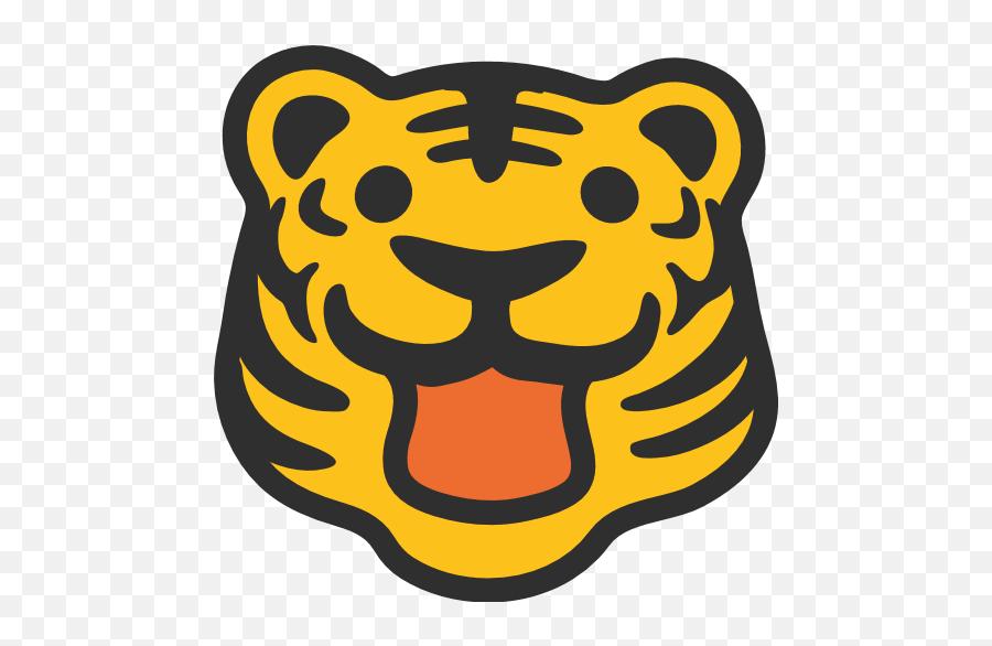Tiger Face Emoji For Facebook Email Sms - Tiger Smiley Face,Tiger Emoji