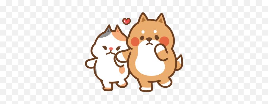 Via Giphy - Cute Animals Gif Cartoon Emoji,Cat Emoticon Facebook