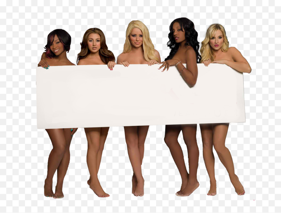 Naked Girl Hold Sign - D Rather Go Naked Than Emoji,Naked Girl Emoji