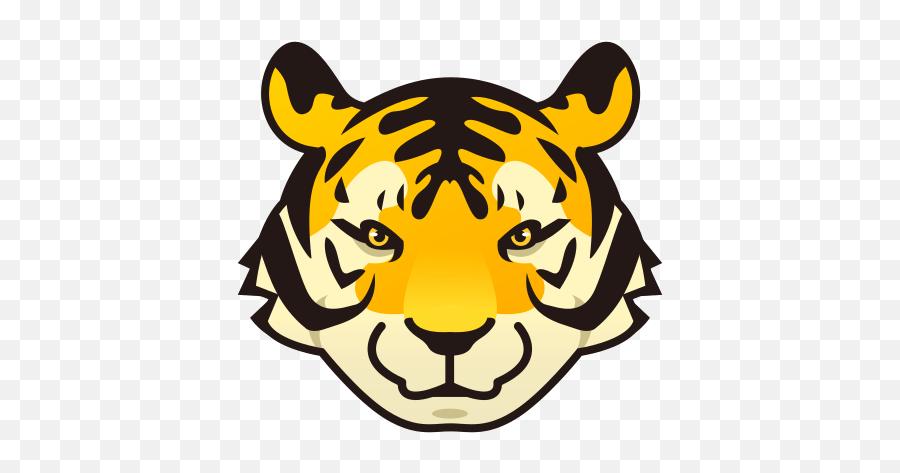 Tiger Emoji For Facebook Email Sms - Cartoon Tiger Head Clipart,Tiger Emoji