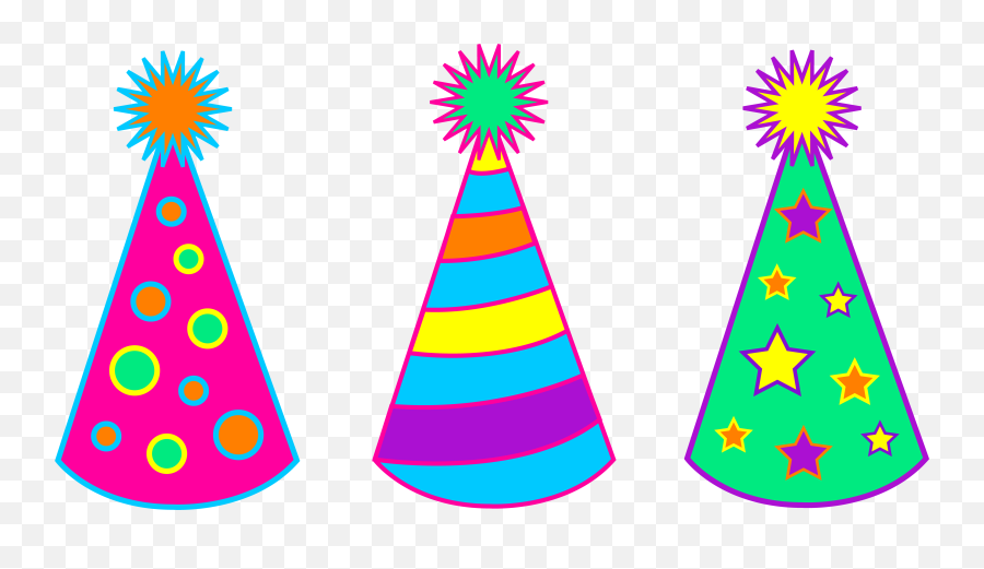 Happy Birthday Hat Clipart - Party Hat Clipart Emoji