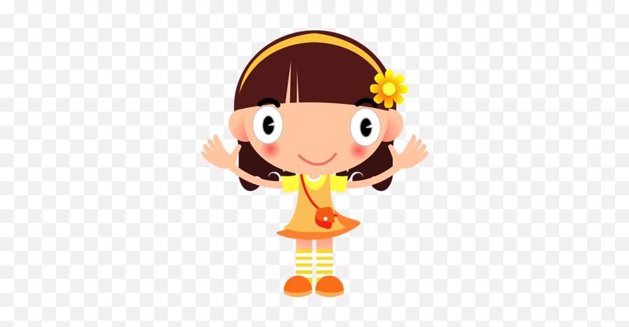 Image Vectorielle Fille Heureuse - Girl Png Clipart Emoji
