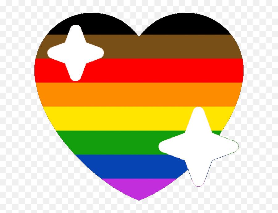 Poc Lgbtq Pride Sparkle Heart Discord Emoji - Pride Sparkle Heart Emoji