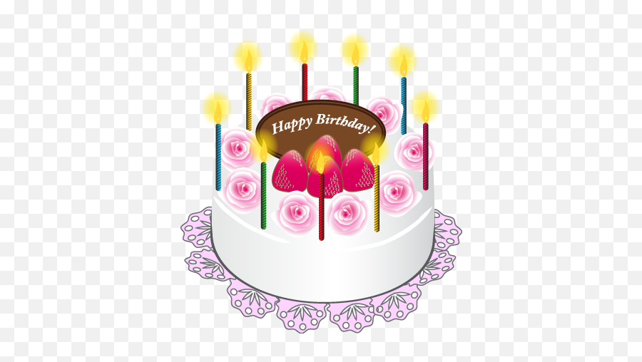 Vector Stock - Happy Birthday Cake Png Emoji