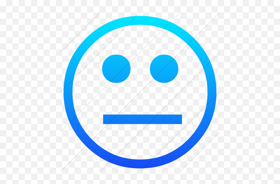 Iconsetc Simple Ios Blue Gradient - Neutral Face Simple Emoji,Blue Emoticons