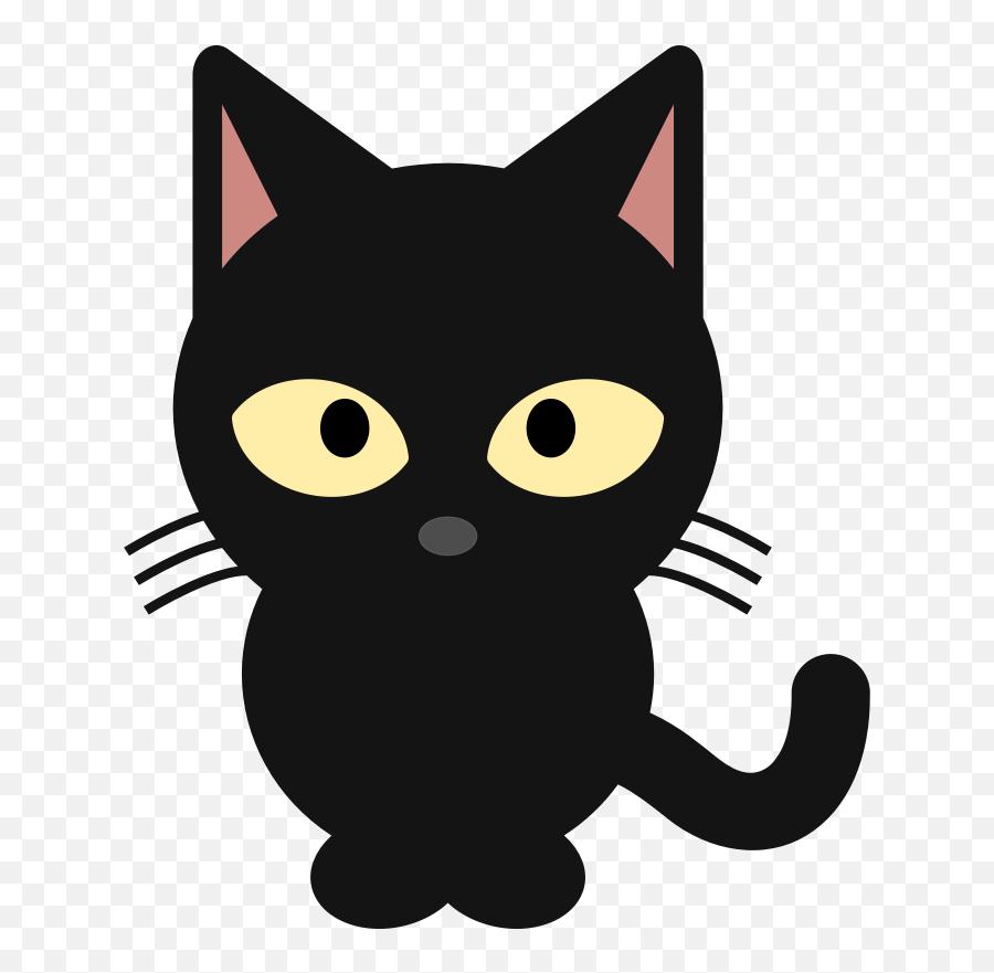 Cat Face With Tears Of Joy Emoji Smiley - Cute Black Cat Clipart,Black Cat Emoji