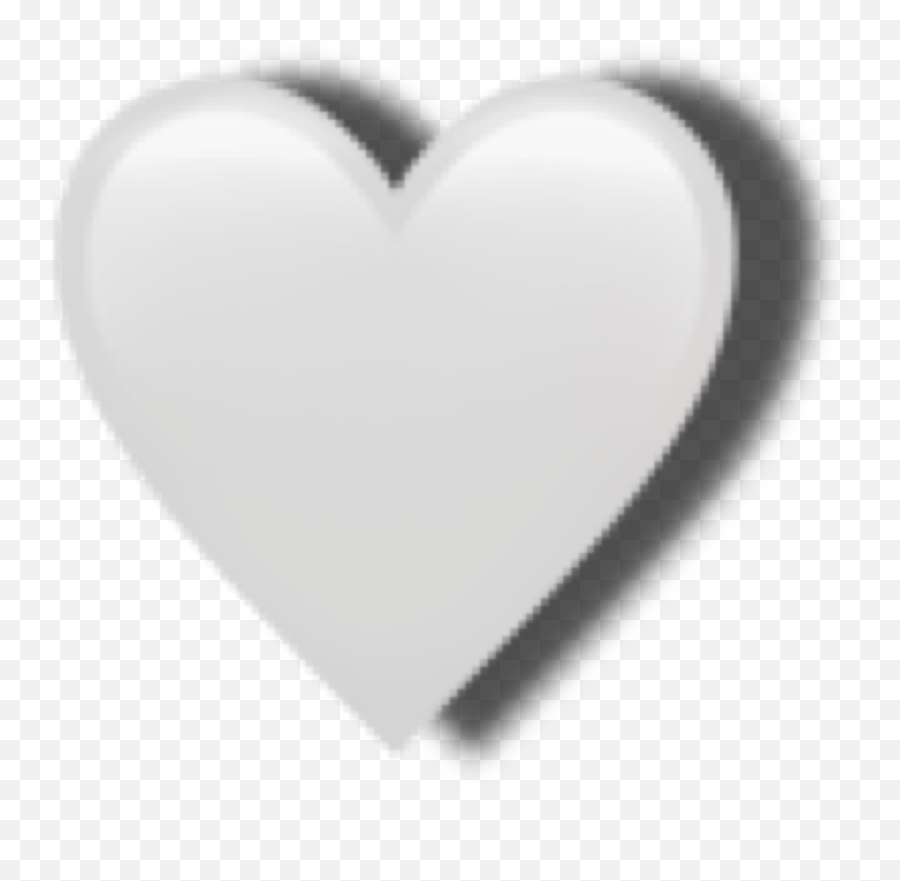 whiteheart heartemoji appleemoji white emoji freetoedit - Heart
