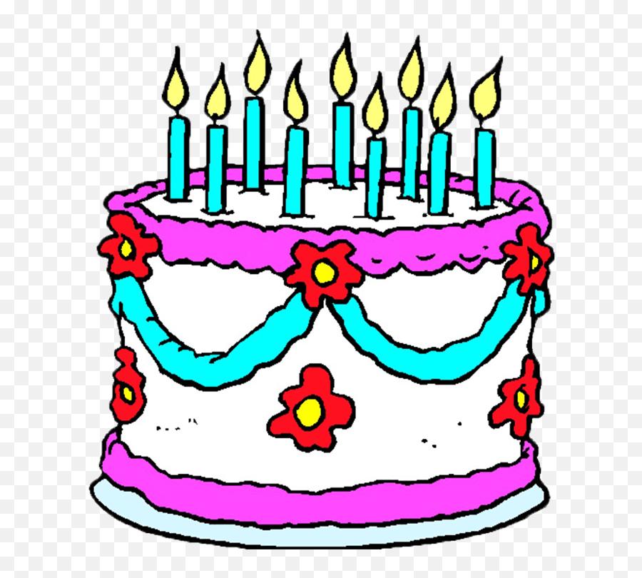 Birthday Cake 5 - Cartoon Of A Birthday Cake Emoji