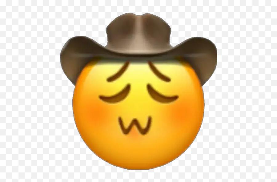 Emoji Cowboy Stickers For Whatsapp - Cowboy Emoji,Emoji Pumpkin