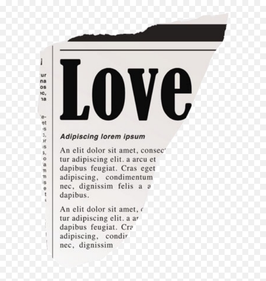 Love Newspaper Words Text Aesthetic Overlay - Pieces Of Newspaper Png Emoji,Newspaper Emoji