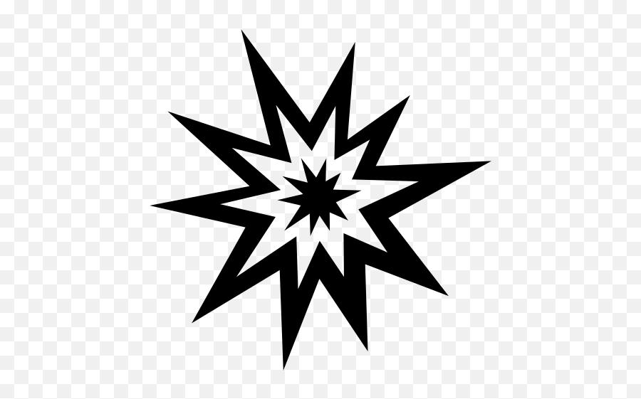 Emojione Bw 1f4a5 - Explosion Emoji