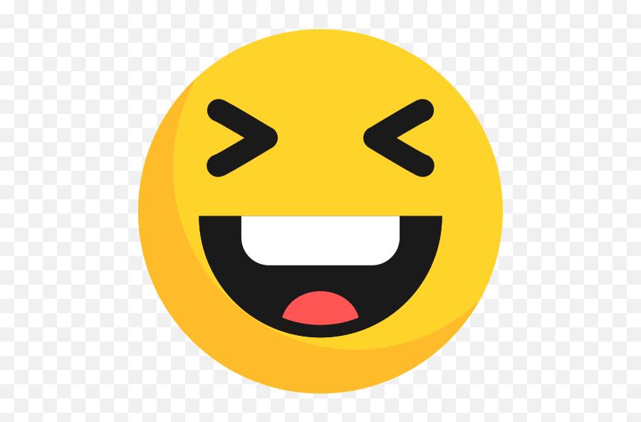 Emoji Emoticon Happy Laugh Free Icon Of Emoji - Laugh Icon Png,Laugh Emoticon
