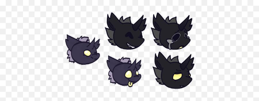 Emoji Bapies - Cartoon,Black Cat Emoji