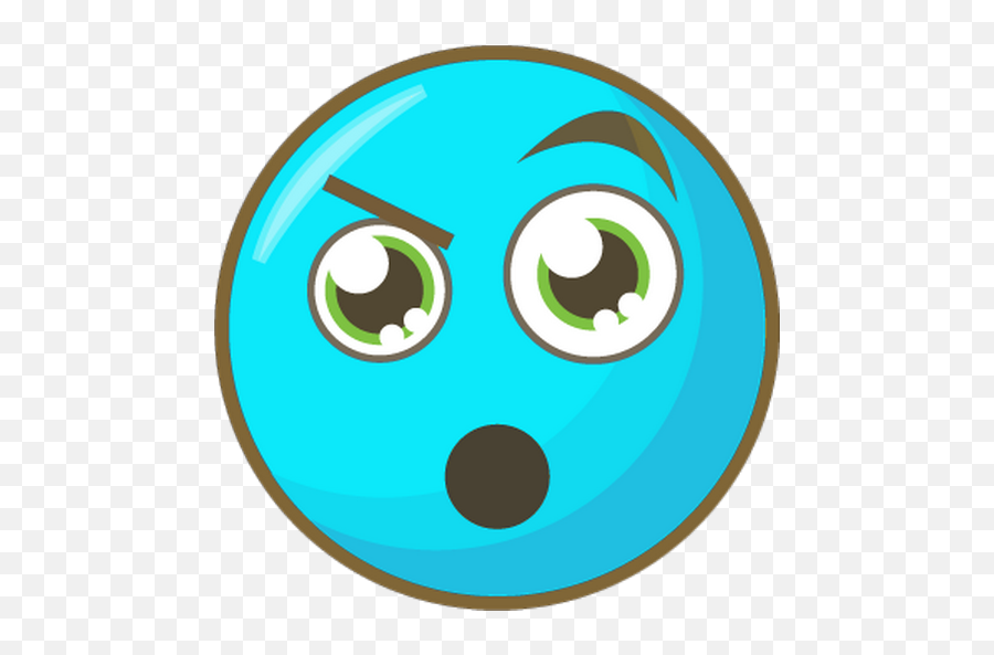 EE  smiley bleu surpris - émoticône clipart cartoon  Circle Emoji