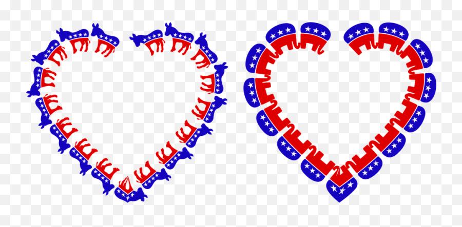Democrat Republican Heart - Democrat Donkey Emoji,Donkey Emoji Iphone