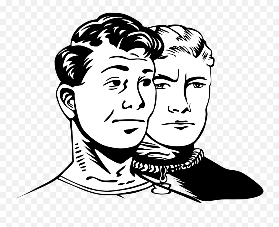 Free Aggression Aggressive Vectors - Two Men Clipart Black And White Emoji,Open Eye Crying Laughing Emoji Transparent