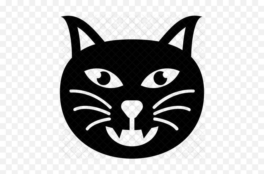 Cat Emoji Icon - Cartoon,Black Cat Emoji