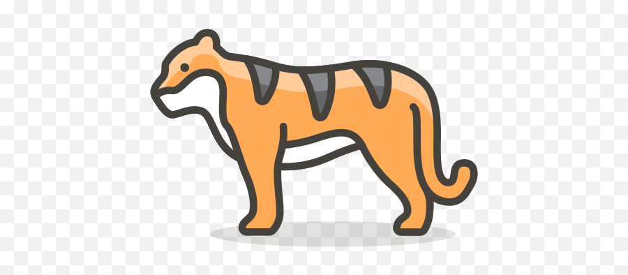 Tiger Free Icon Of 780 Free Vector Emoji - Masai Lion,Tiger Emoji