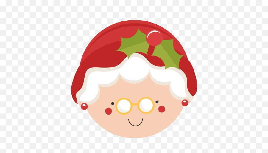 Mrs Santa Claus Clipart - Mrs Claus Face Clipart Emoji,Santa Clause Emoticon