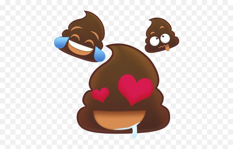 Animoji Poo Animated Stickers - Types Of Chocolate Emoji