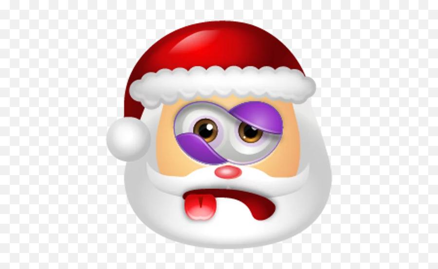 Santa Claus Stickers For Telegram - Dizzy Santa Emoji,Santa Clause Emoticon