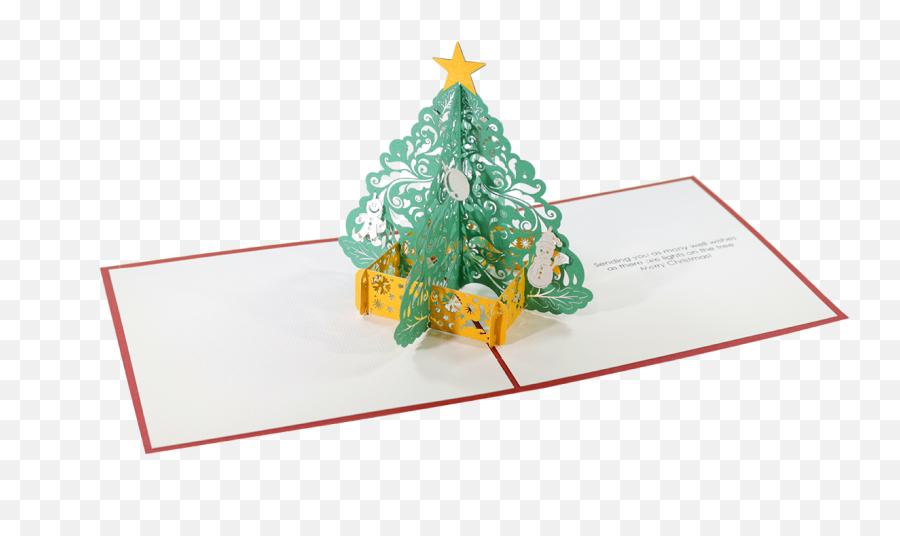 Christmas Tree Pop Up Card - Pop Up Christmas Card Png Emoji,Christmas Tree Emoji Png