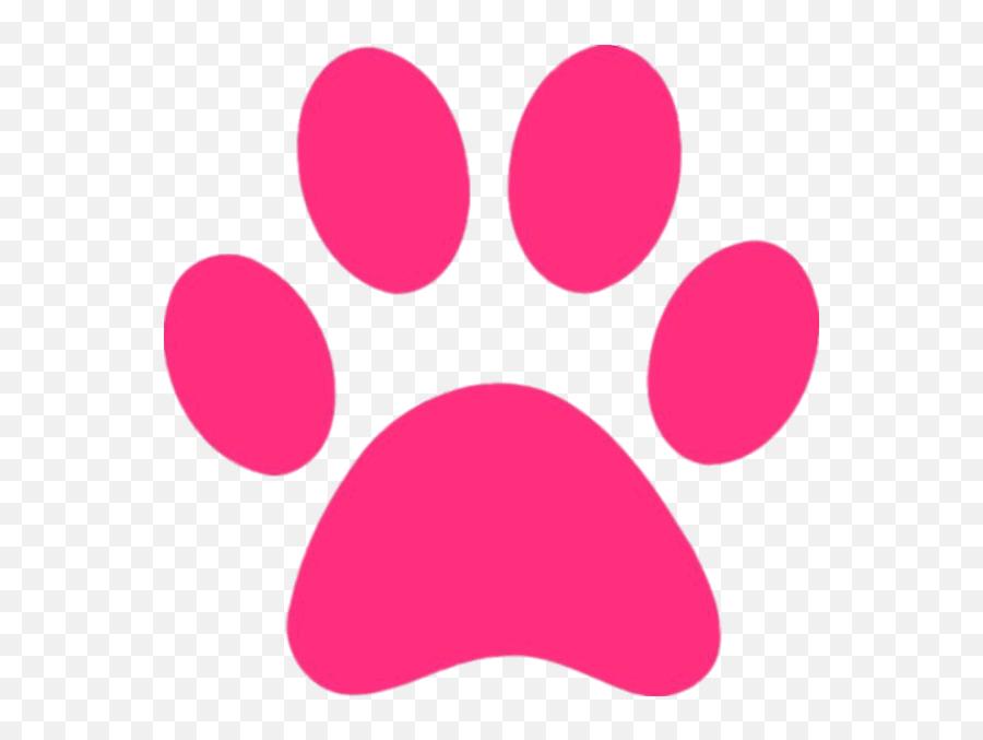 Png Pink - Paw Clipart Pink Emoji