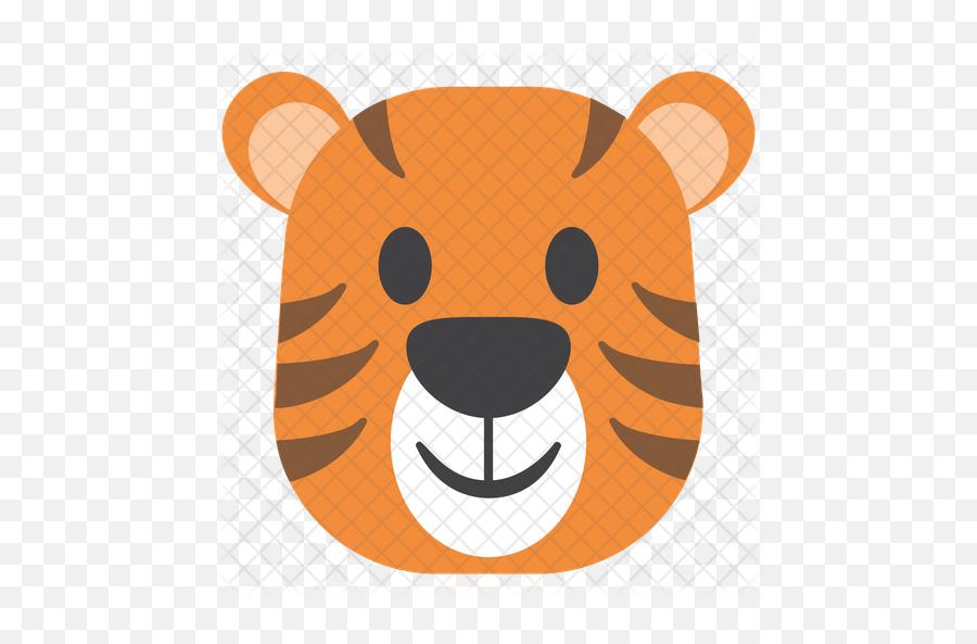 Tiger Emoji Icon - Cute Tiger Vector Png,Tiger Emoji
