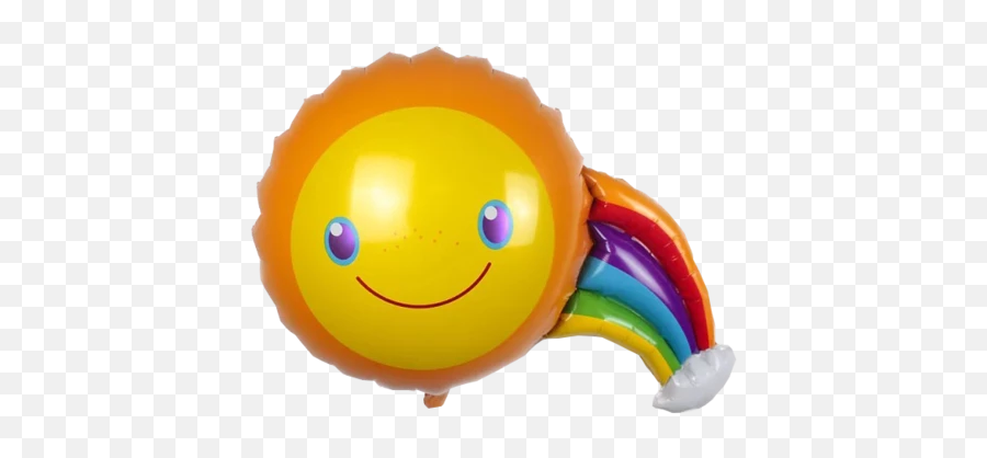 Sunshine Rainbow Happy Birthday Foil Balloon - Baby Toys Emoji