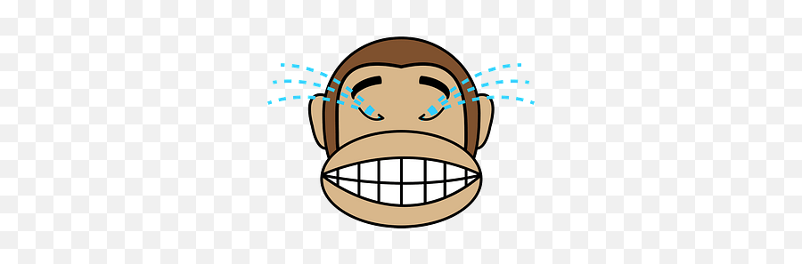 Sobbing Monkey Emoji Clipart Free Download Creazilla - Cartoon Bandage On Head,Sobbing Emoji