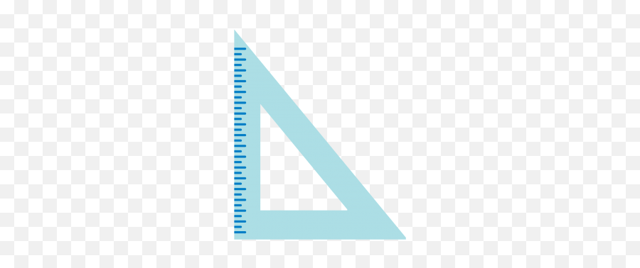 Geometry Ruler Cuttable SVG and Printable PNG File - Vertical Emoji