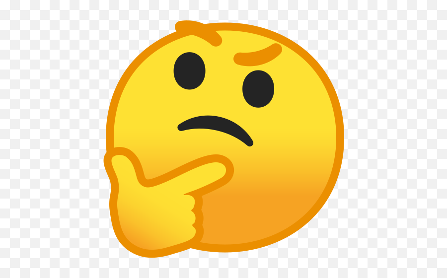 Thinking Face Emoji - Thinking Emoji,Thinking Emoji