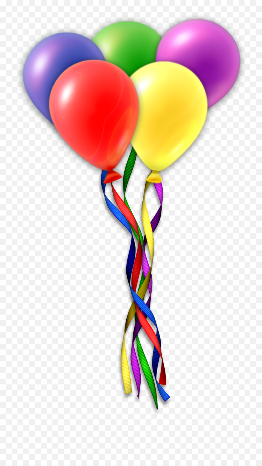 Free Birthday Balloons Png Download - Objects Made From Rubber Emoji