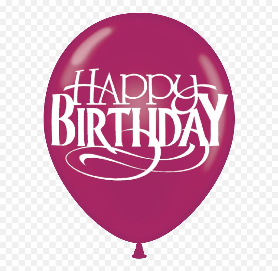 Birthday Print Latex Balloons - Balloon Emoji