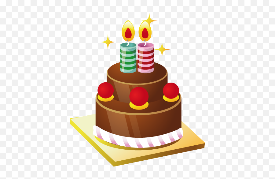 Cake Icon Free Download As Png And Ico - 2nd Birthday Cake Png Emoji