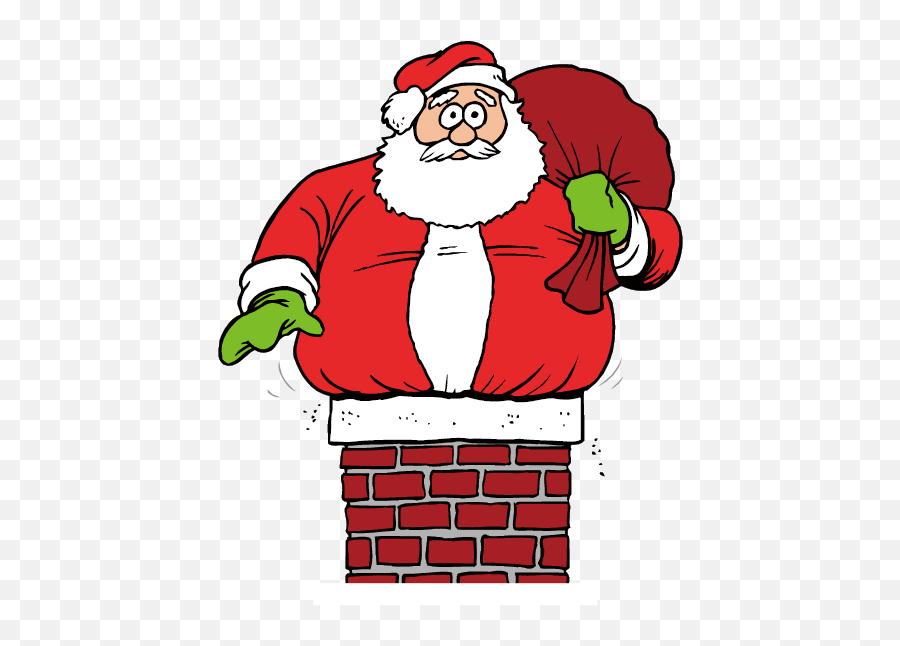 Stuck Clip Santa Claus Picture 2756915 Stuck Clip Santa Claus - Santa Got Stuck Up Emoji,Santa Clause Emoticon