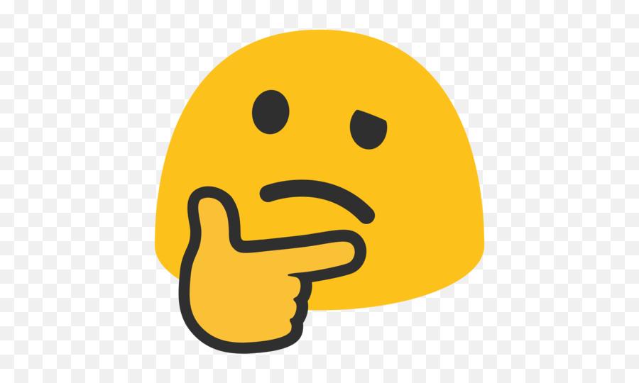 Thinking Face Emoji - Thinking Emoji Transparent Background,Thinking Emoji
