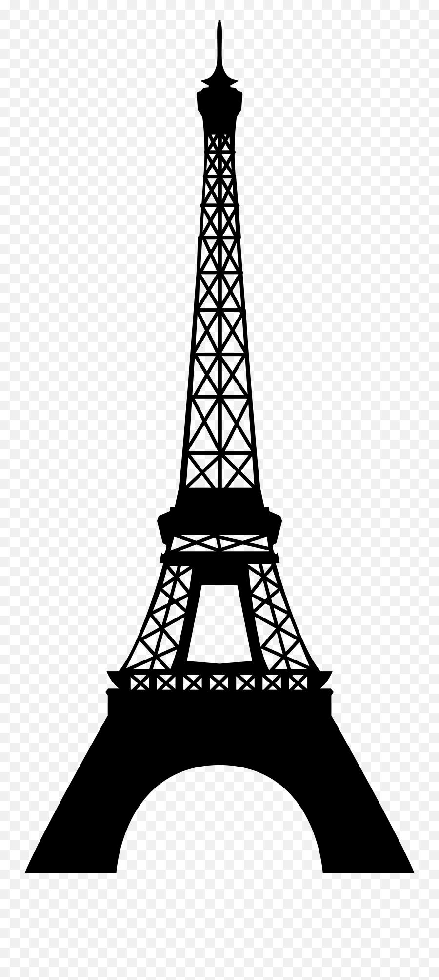 Eiffel Tower Clipart No Background - Eiffel Tower Silhouette Png Emoji,Eiffel Tower Emoji