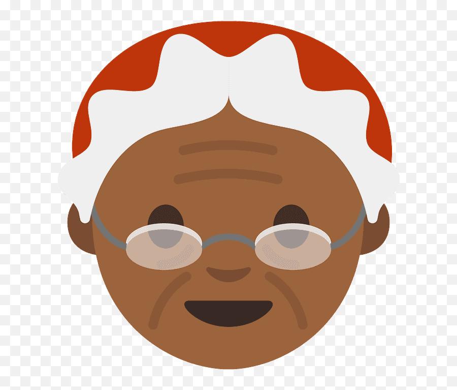 Stedn Tmavý Odstín Pleti Santa Clausová Emoji Clipart - Cara De Abuela Morena,Where Is The Santa Emoji
