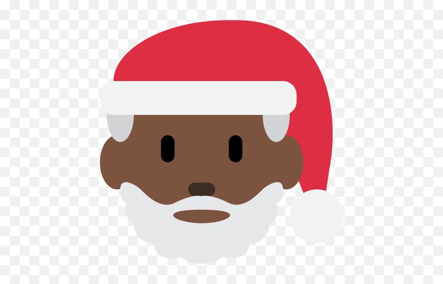 Santa Claus Emoji With Dark Skin Tone Meaning And Pictures - Black Santa Emoji Png,Santa Emoji