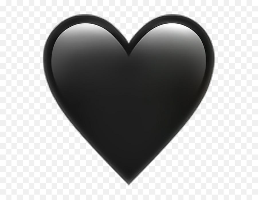 Heart Black Emoji Emoticon Iphone - Emoji Transparent Iphone Heart,Black Emoji Iphone