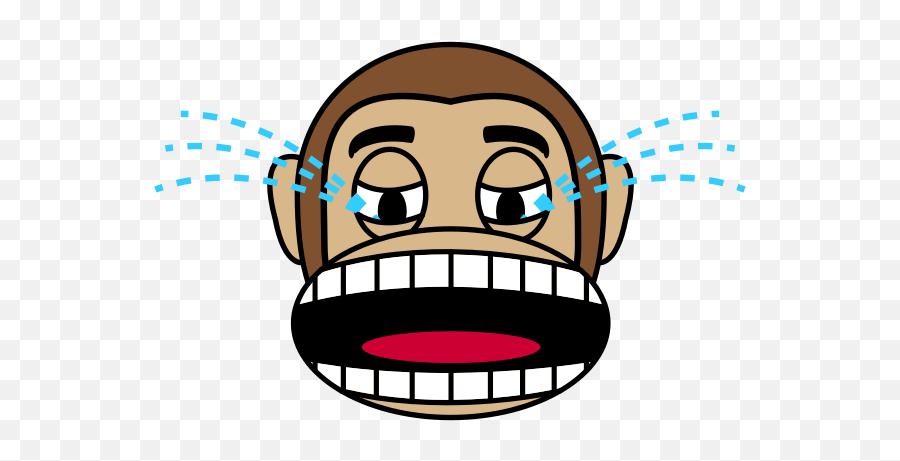 Download Free Png Monkey Emoji - Angry Cartoon Monkey Face,Crying Happy Emoji