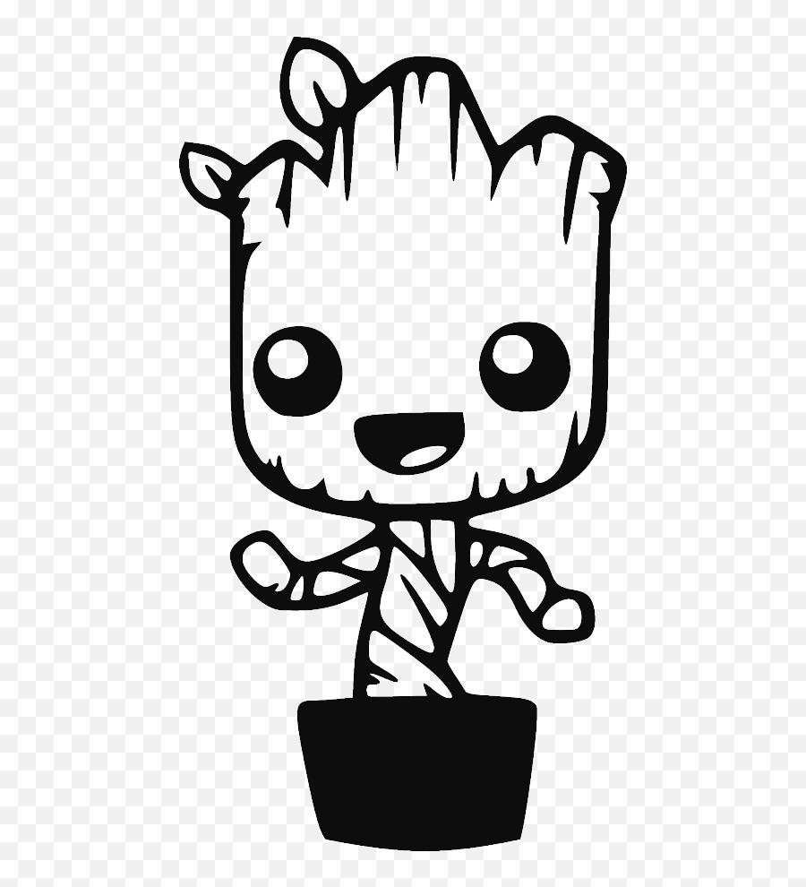 Rocket Raccoon Clipart Black And White - Easy Baby Groot Drawing Emoji,Groot Emoji