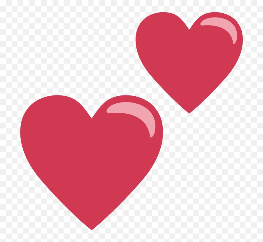 Emojione1 1f495 - Heart Emoji,Sparkling Heart Emoji
