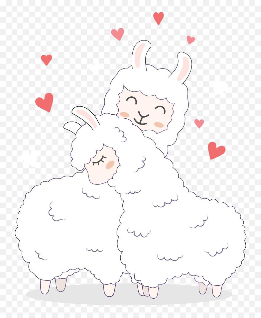 Loving Llamas Animal Wall Decal - Lamas Desenho Emoji,Llama Emoji Iphone