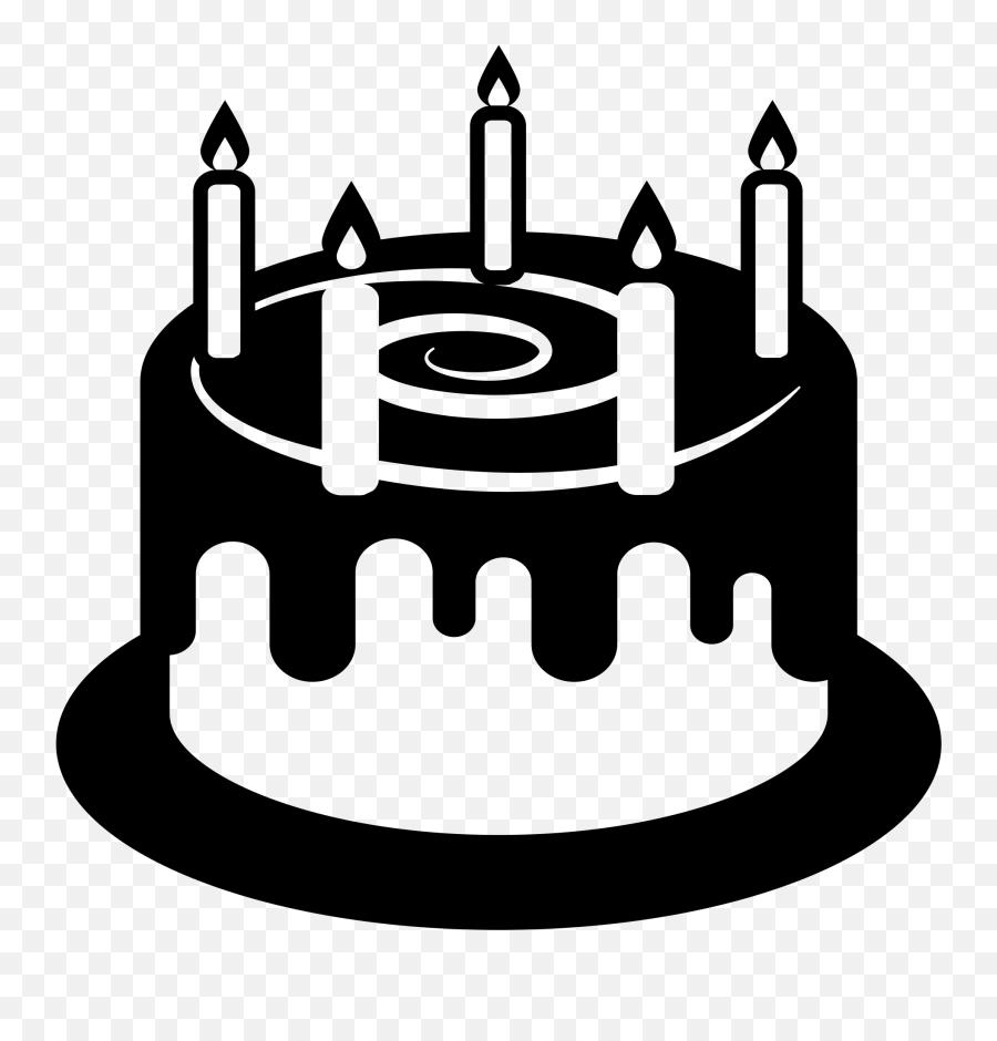 Clipart Cake Emoji Clipart Cake Emoji Transparent Free For - Birthday Cake Png Black