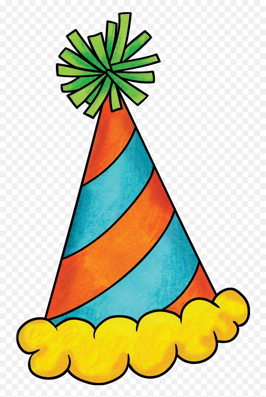 Freetoedit Birthday Hat Handdrawn - Clip Art Emoji